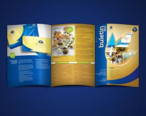 desain majalah, desain buletin