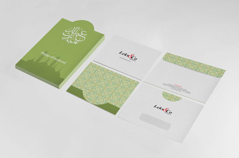 desain kartu ucapan lebaran perusahaan kreatif unik keren