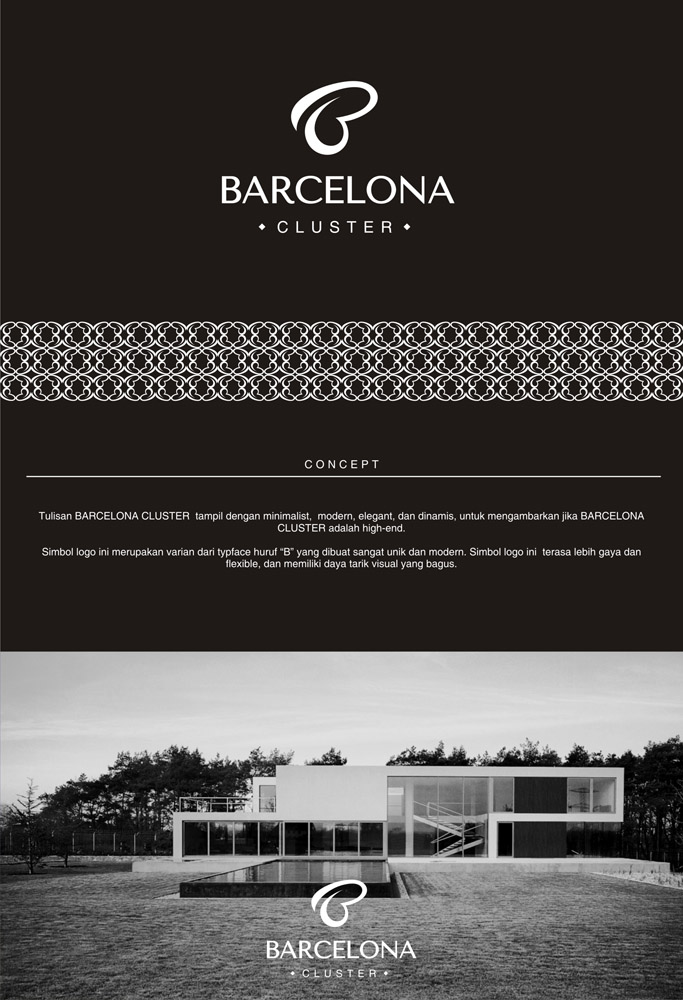 logo project property perumahan semarang barcelona cluster