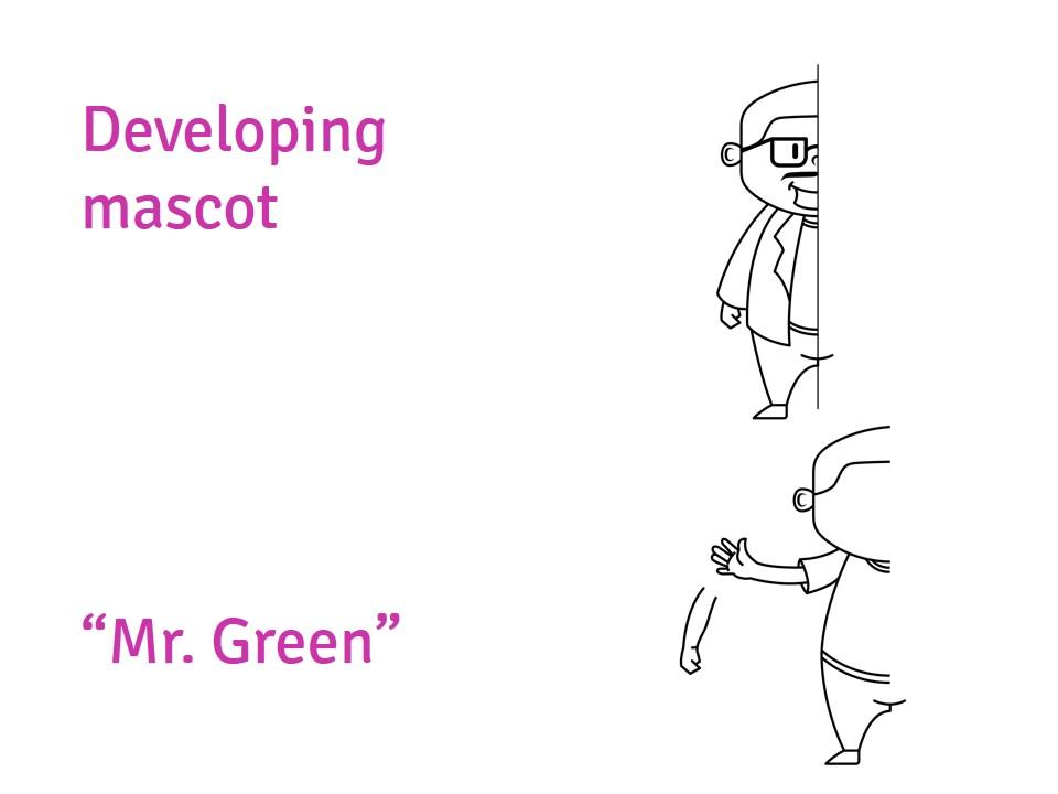 desain maskot perusahaan Astra ESR Mr Green-concept