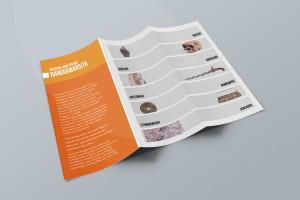 Desain Brosur Museum Ranggawarsita-Semarang-ORANGE Brochure Mock-up 1