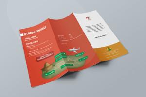 Desain Brosur Museum Ranggawarsita-Semarang-ORANGE Brochure Mock-up 3