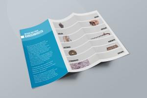 Desain Brosur Museum Ranggawarsita-Semarang-blue Tri Fold Brochure Mock-up