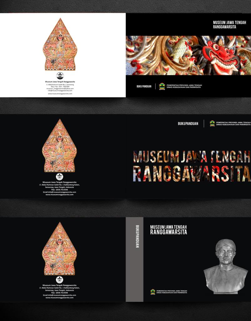 jasa desain cover buku panduan museum jawa tengah ranggawarsita cover mock up