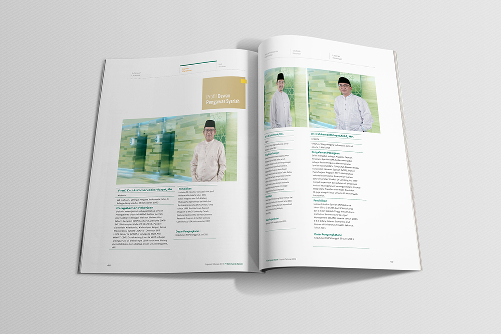 Jasa pembuatan desain annual report bank syariah BSM 5