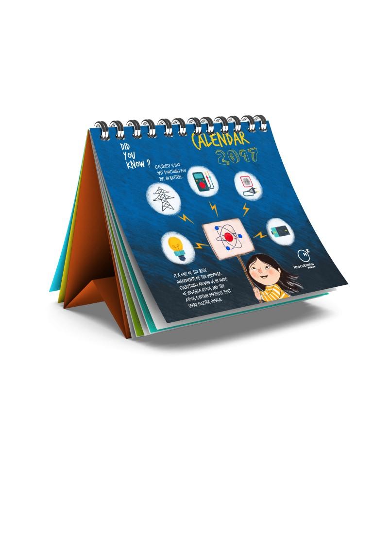 jasa pembuatan desain kalender perusahaan tambang minyak energy medco jakarta cover