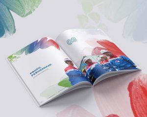 inspirasi desain annual report perusahaan