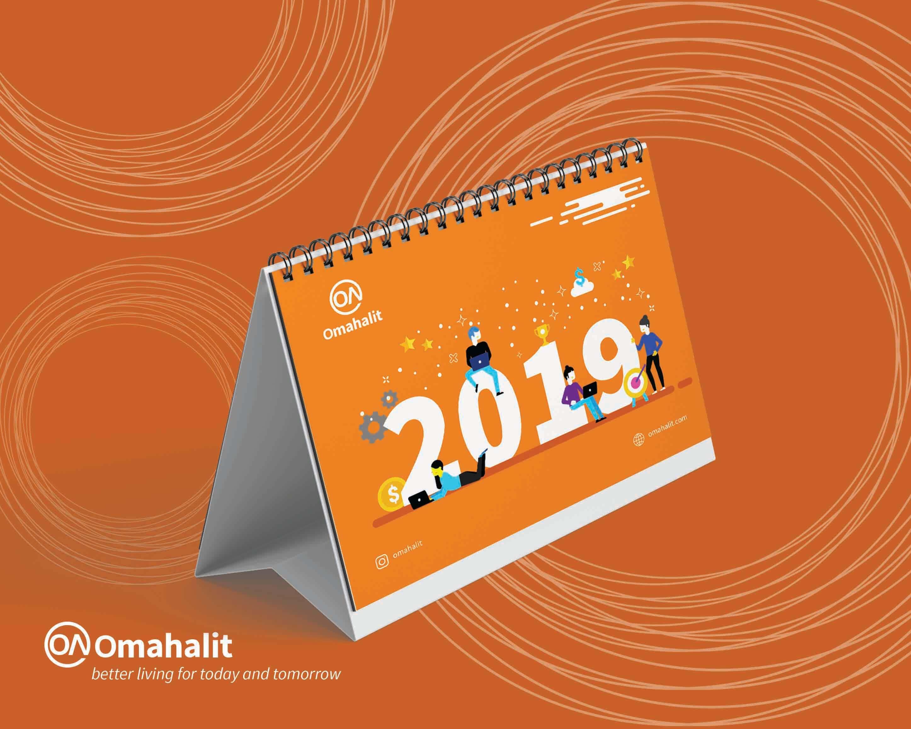 Jasa Desain Kalender Perusahaan omahalit 1
