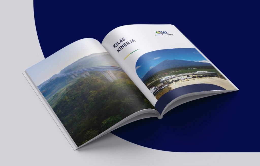 Mockup Annual Report Badan Usaha Jalan Tol (Trans Marga Jateng 2018)