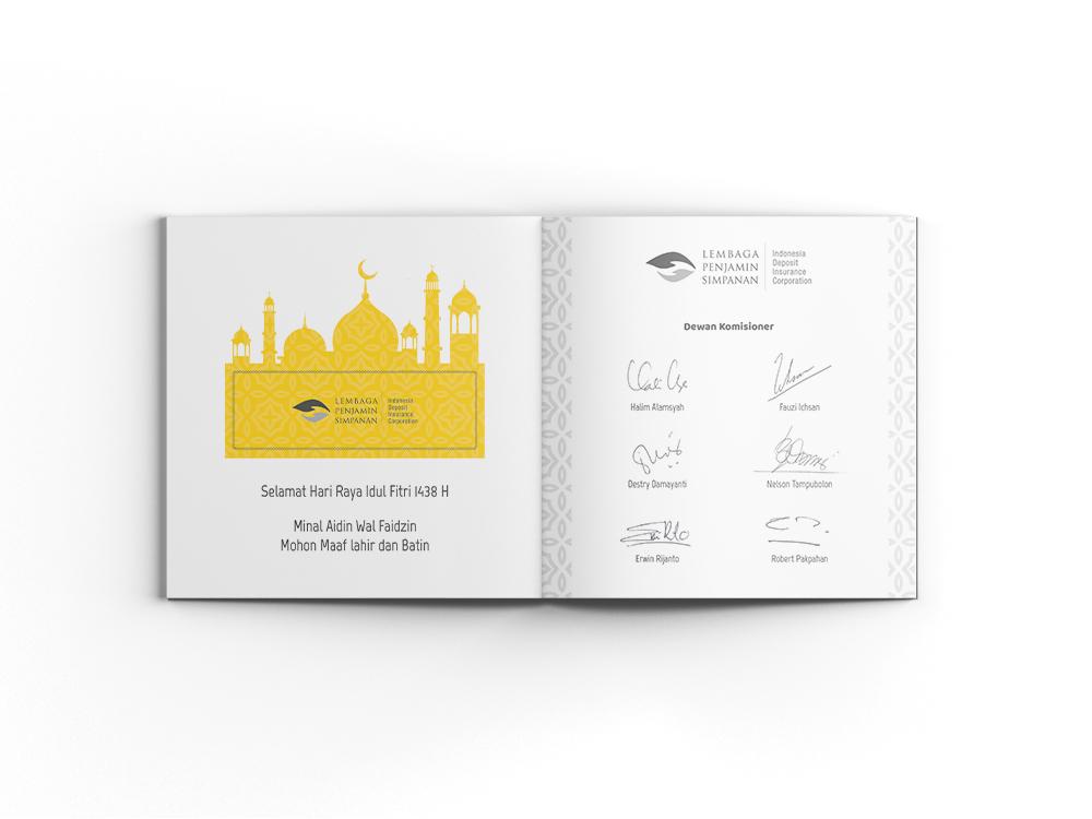 jasa pembuatan desain kartu ucapan lembaga penjamin simpanan LPS 3