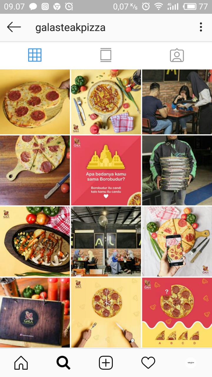 Jasa Kelola Akun Instagram Restoran Gala Steak Pizza