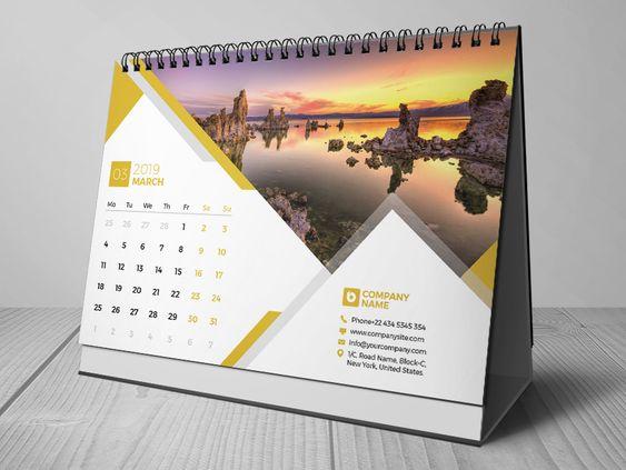 Harga Jasa Desain Kalender Meja Tahun 2020 Mendatang
