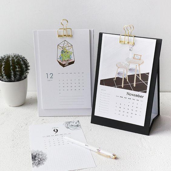 Penawaran harga jasa desain kalender meja minimalis