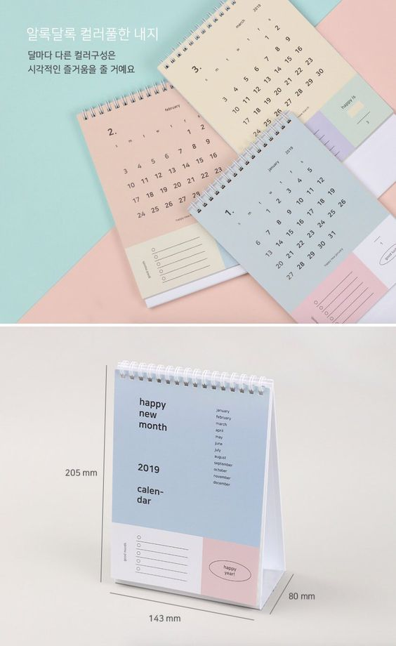 Penawaran harga jasa desain kalender meja pastel