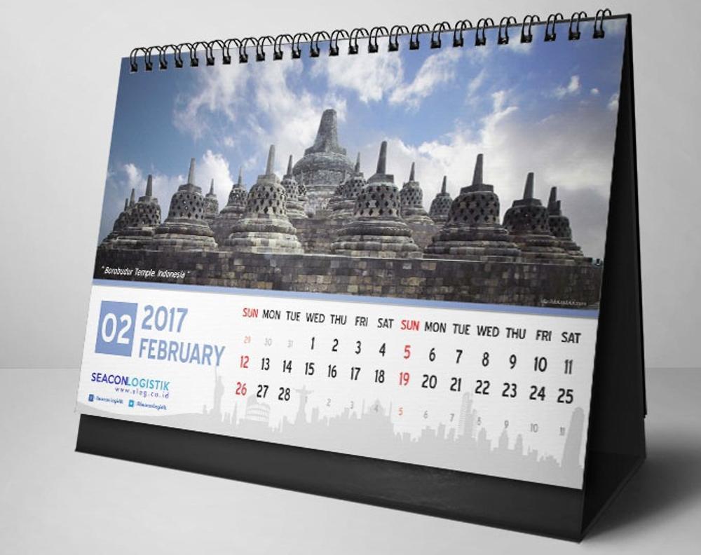 ukuran foto pendukung pada desain kalender perusahaan