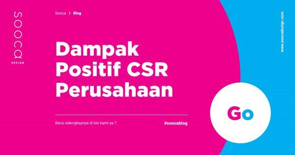 Dampak positif CSR jangka pendek dan Dampak positif CSR jangka panjang