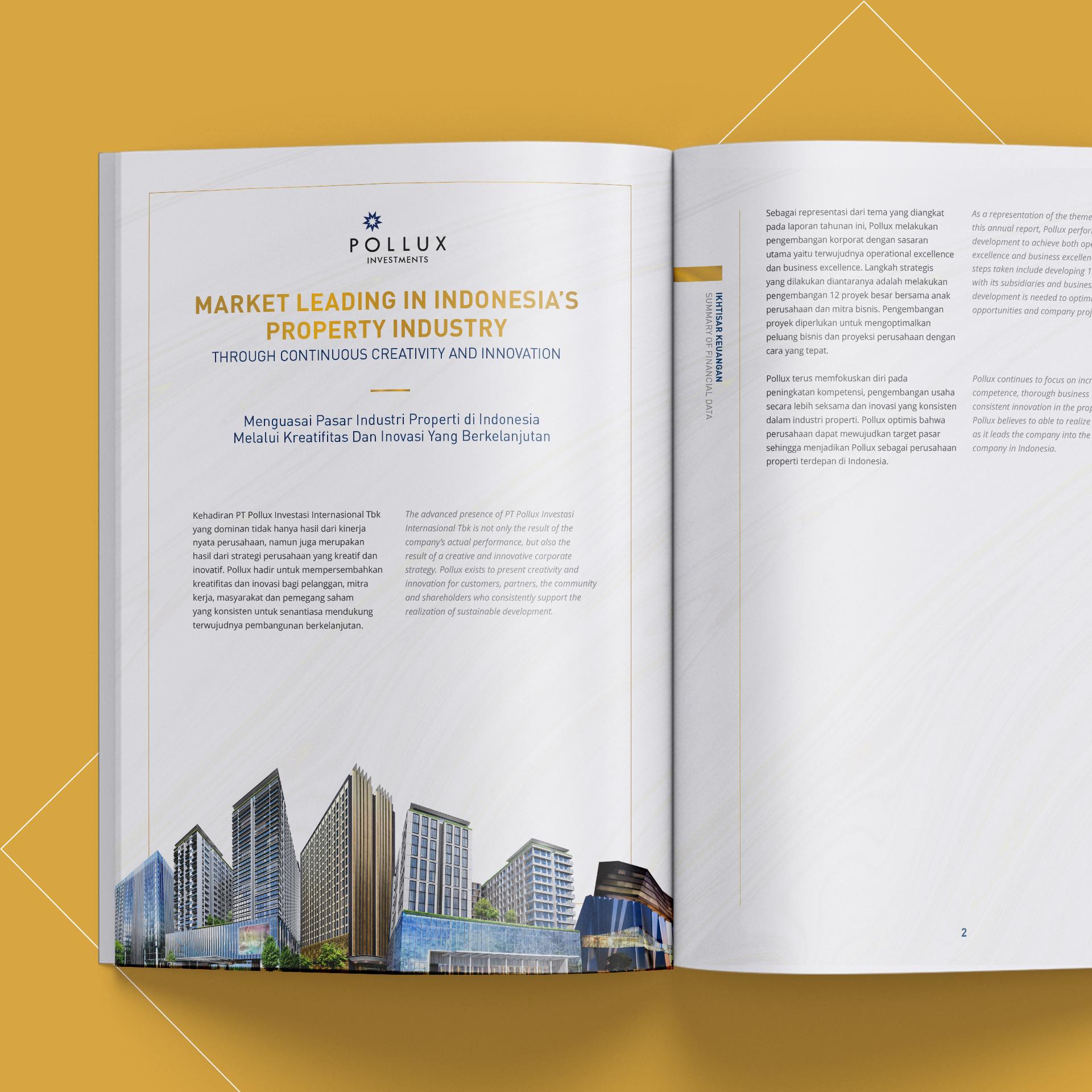 Jasa Pembuatan Annual Report PT Pollux Investasi Internasional Tbk